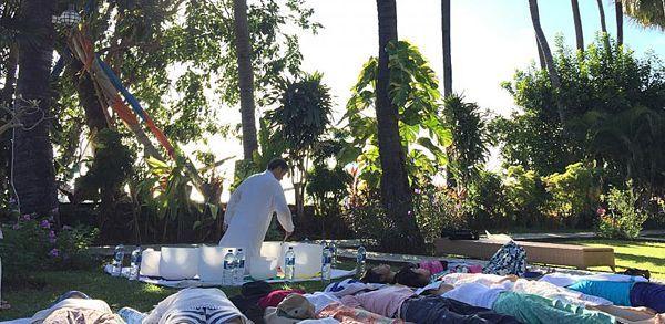 2018年04月16日H.I.S.旅と本と珈琲とOmotesando神々の島「バリ島」の風を感じて〜瞑想とクリスタルボウル